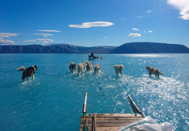Une photographie hors du temps qui illustre la fonte de la banquise du Groenland
