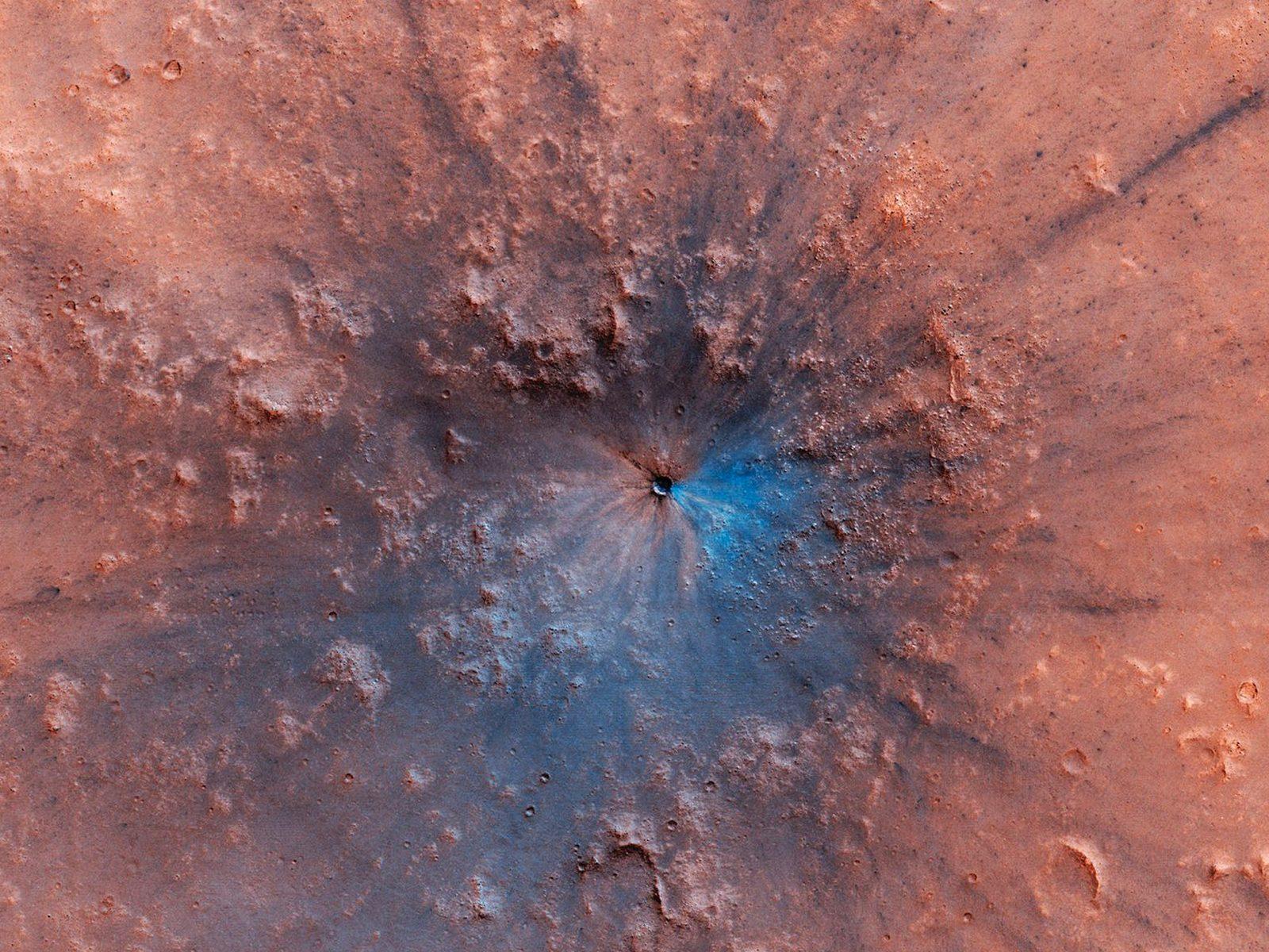 Un cratère intriguant sur Mars dévoilé par la NASA